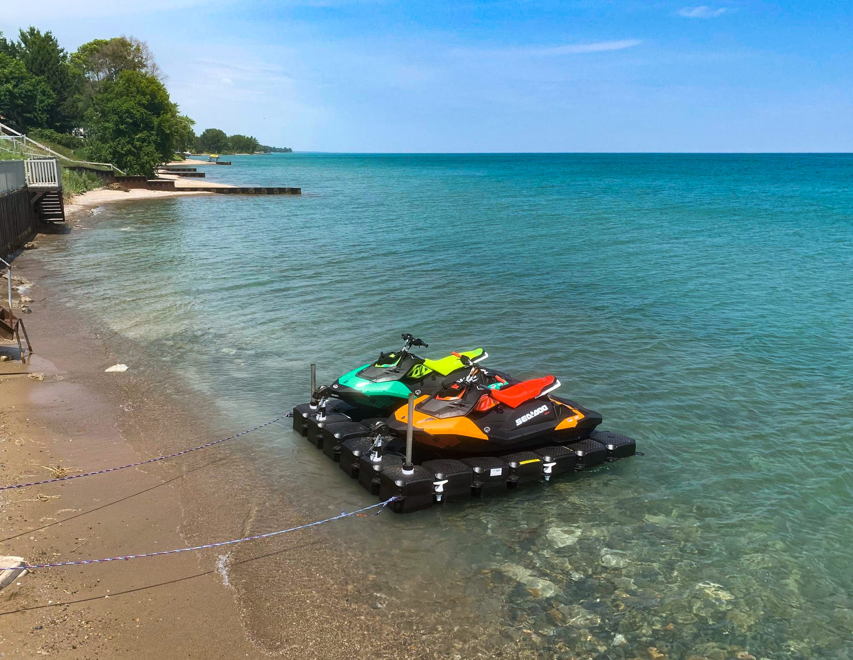 Jet Ski Dock in Lake Huron